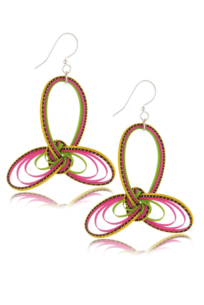 AGATHA TERRELL - MARICE Braided Bamboo Earrings - Jewelry