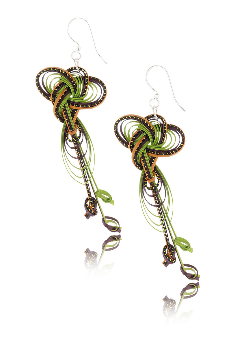 AGATHA TERRELL - MELISANDE Bamboo Braided Earrings - Jewelry