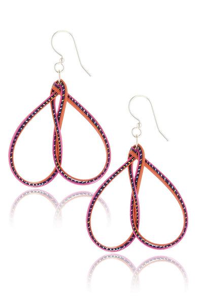 AGATHA TERRELL - MINNIE Pink Bamboo Earrings - Jewelry