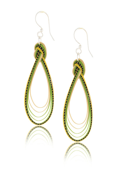 AGATHA TERRELL - MOLY Green Braided Bamboo Earrings - Jewelry