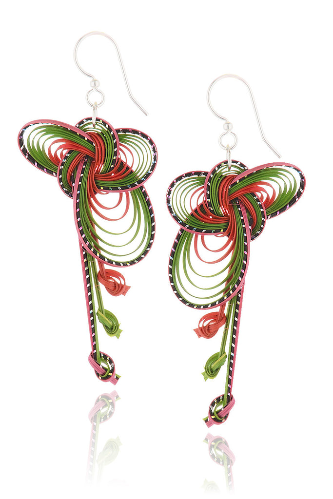 AGATHA TERRELL - OLLIE Bamboo Braided Earrings - Jewelry