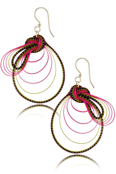 AGATHA TERRELL - RALLIE Braided Bamboo Earrings - Jewelry