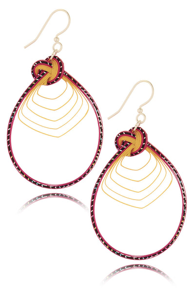 AGATHA TERRELL - SERINA Braided Bamboo Earrings - Jewelry