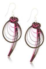 AGATHA TERRELL - VILMA Fuchsia Braided Bamboo Earrings - Jewelry