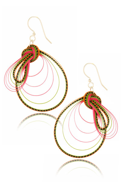 AGATHA TERRELL - VIVERRA Braided Bamboo Earrings - Jewelry