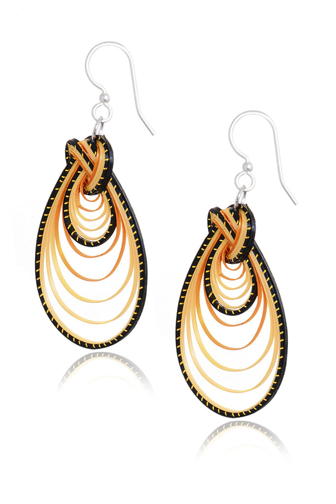 AGATHA TERRELL - ZENA Braided Bamboo Earrings - Jewelry