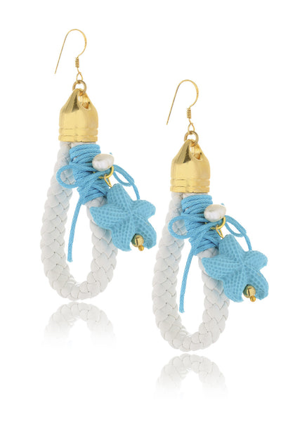 ALBERTO GALLETI - ALMYRA Light Blue White Earrings - Jewelry