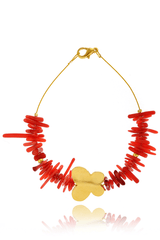 ALBERTO GALLETI - BUTTERFLY Coral Gold Bracelet - Jewelry