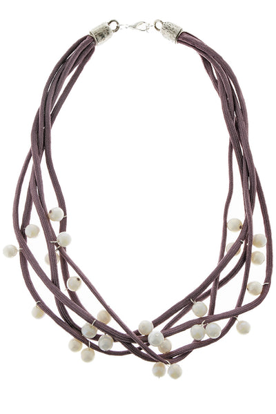 ALBERTO GALLETI - CAROLINA Purple Pearl Necklace - Jewelry