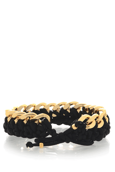 ALBERTO GALLETI CHAIN Gold Satin Woven Bracelet