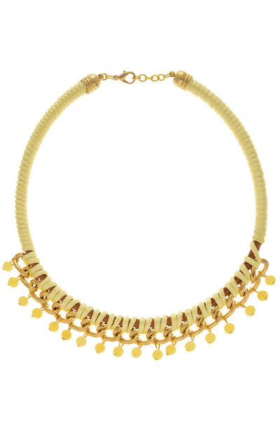 ALBERTO GALLETI ELLIE Yellow Chain Necklace
