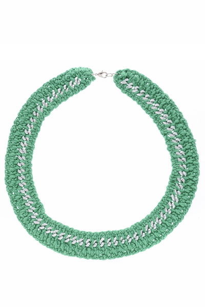 ALBERTO GALLETI ENID Green Woven Necklace