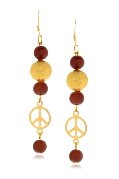 ALBERTO GALLETI PEACE Brown Glass Pearl Earrings