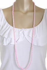ALBERTO GALLETI SPLASH Cherry Pink Pearl Necklace