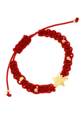 ALBERTO GALLETI STARLIGHT Red Woven Bracelet