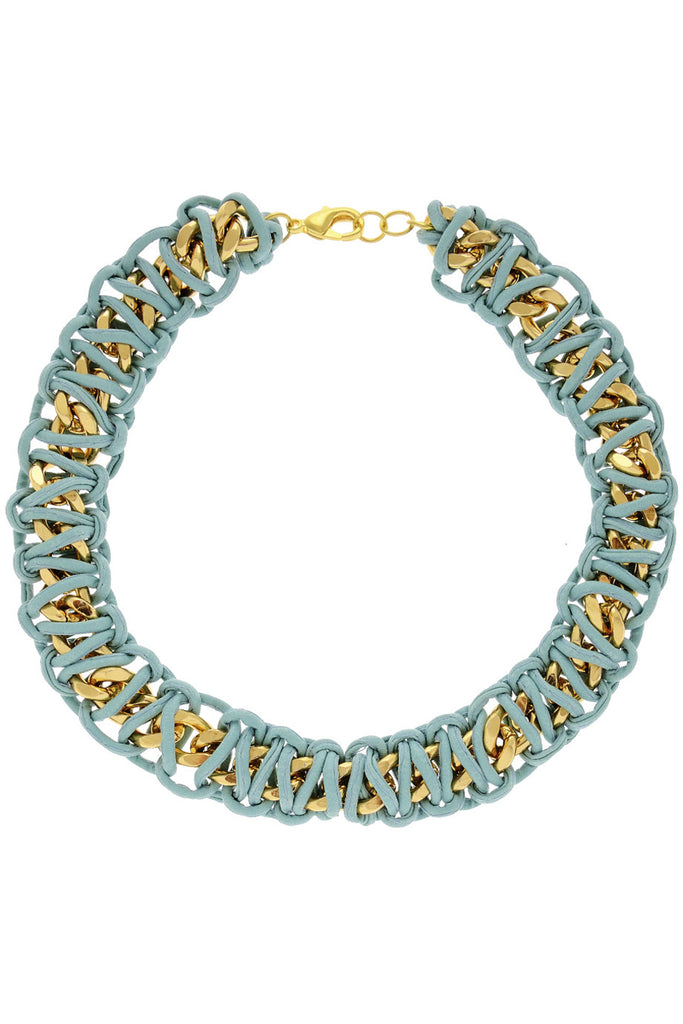 ALBERTO GALLETI TIFFANY Turquoise Leather Necklace