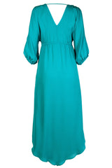ALICE & TRIXIE CENDRILLON Turquoise Silk Dress