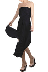 ALICE & TRIXIE CRYSTAL Black Silk Jumpsuit