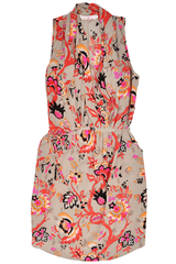 ALICE & TRIXIE KACY Silk Floral Printed Wrap Dress