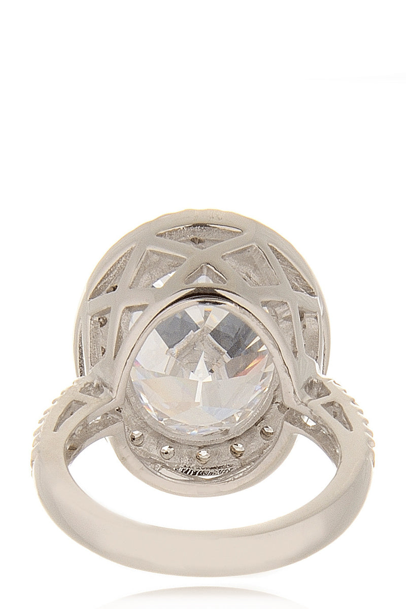 KENNETH JAY LANE AMALIA Silver Cocktail Ring