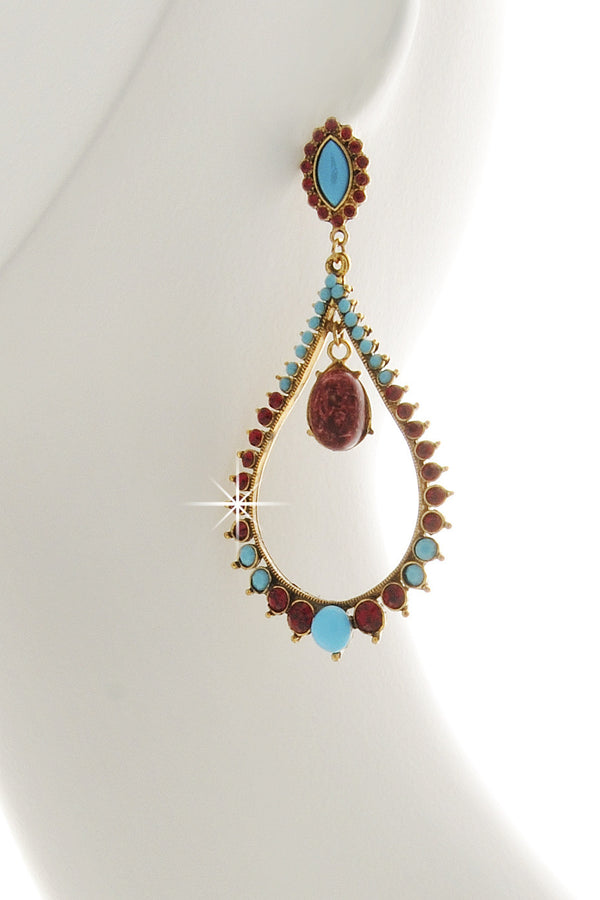 ANDREA MADER AURORA Turquoise Drop Earrings