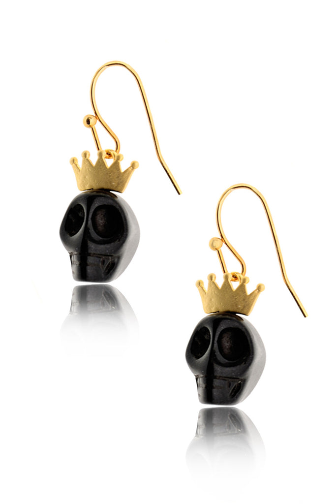 A. H. CRAWFORD BLACK KING Skull Earrings