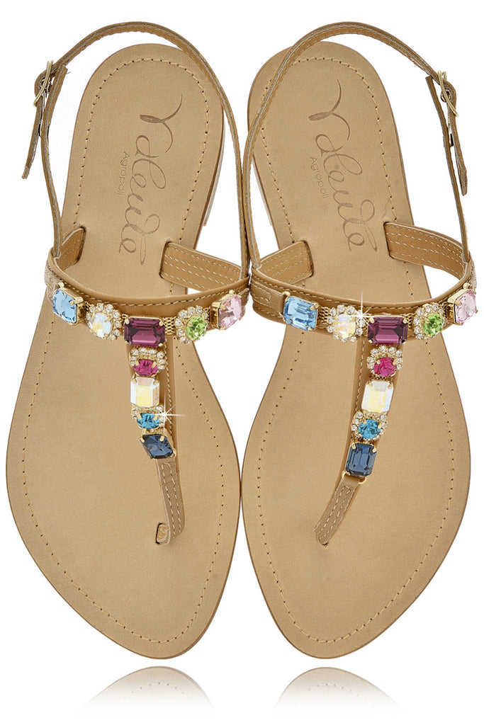 ANGELO VALENTE WILMA Crystal Embellished Sandals