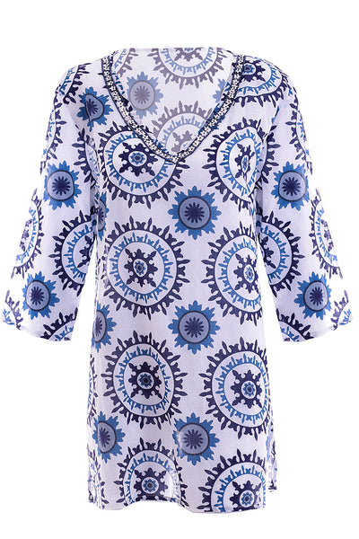 SALINA Blue Cotton Tunic