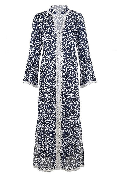 NADENKA Maxi Blue Kaftan Dress