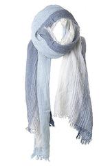 SELIRA Blue Stiped Scarf
