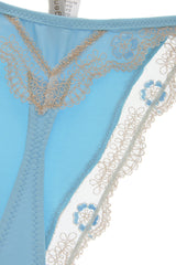 ARGENTOVIVO BABY Blue Beige Floral Thong