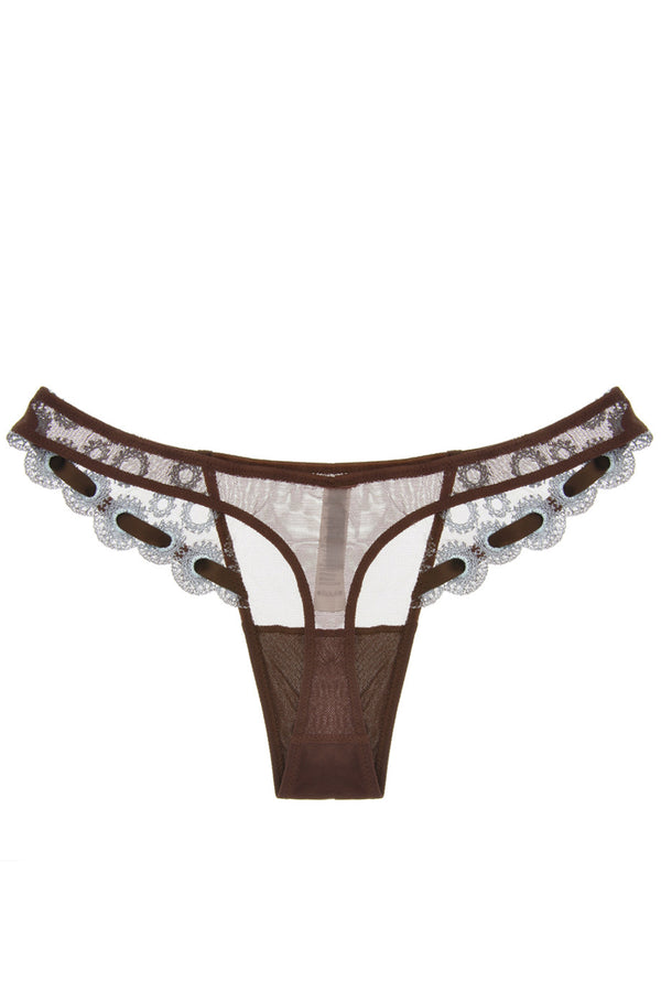 ARGENTOVIVO NESCAFE Brown Ribbon Thong