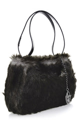 ARMANI JEANS GIUDITTA Grey Fur Bag