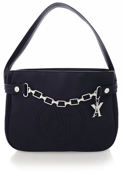 ARMANI JEANS SANDY Embossed Blue Tote