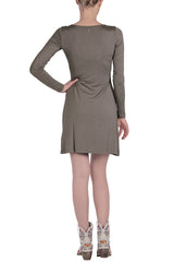 ARMANI JEANS SUELLEN Khaki Elastic Mini Dress