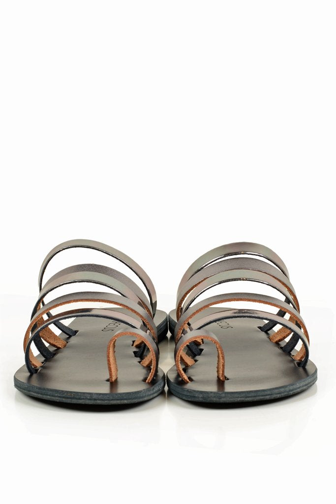 GRAECUS ΑΤΗΕΝΑ Black Leather Sandals Ancient Greek Leather Sandals