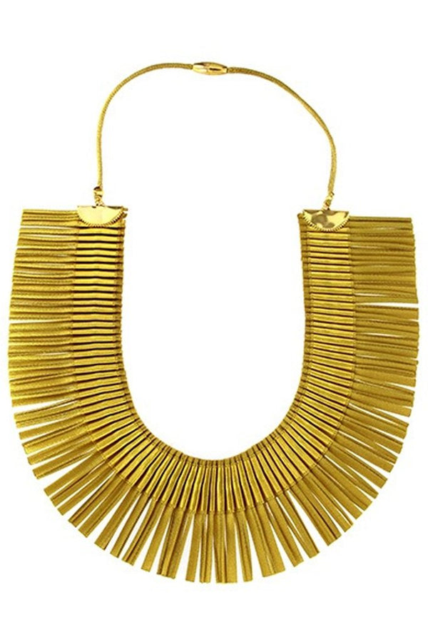 RA Single Gold Fabric Necklace