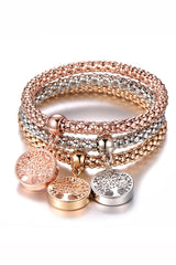 Lucky Bracelets Set in Gold Silver and Rose Gold