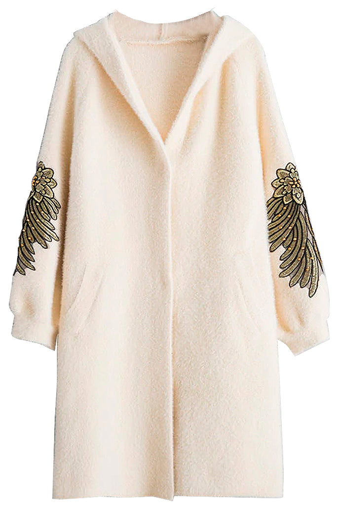 Light Beige Faux Fur Coat | Woman Clothing - Coats