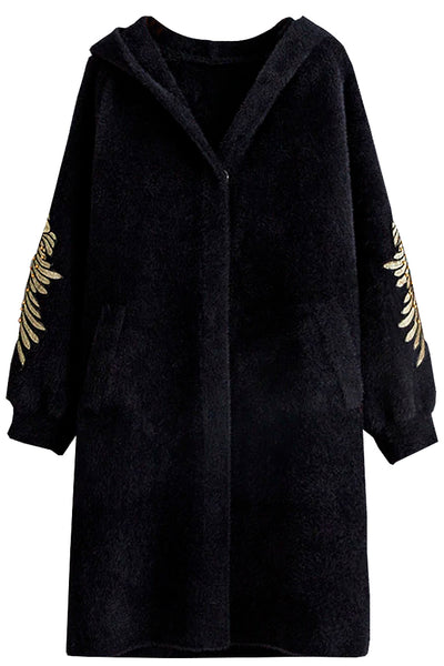 Black Faux Fur Coat | Woman Clothing - Coats