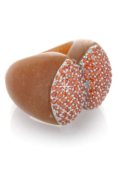 BABETTE WASSERMAN NOUGAT Red Adventurine Ring