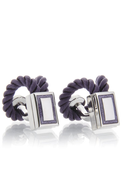 BABETTE WASSERMAN ROPE Wrap Purple Cufflinks