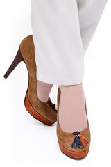 BARBARA BUCCI MAIRA Brown Suede Pumps