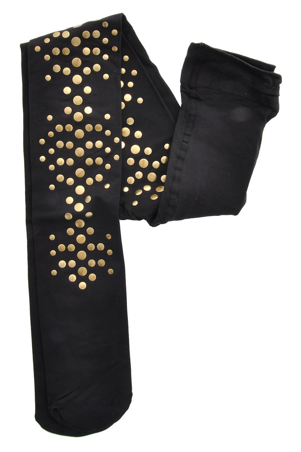 BEBAROQUE BRASSY Black Tights