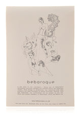 BEBAROQUE DEADLY NIGHTSHADE Flower Bow Tights