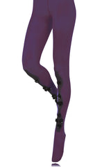 BEBAROQUE DECORATIVE DAHLIA Purple Tights