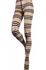BEBAROQUE DOTTY Nude Black Tights