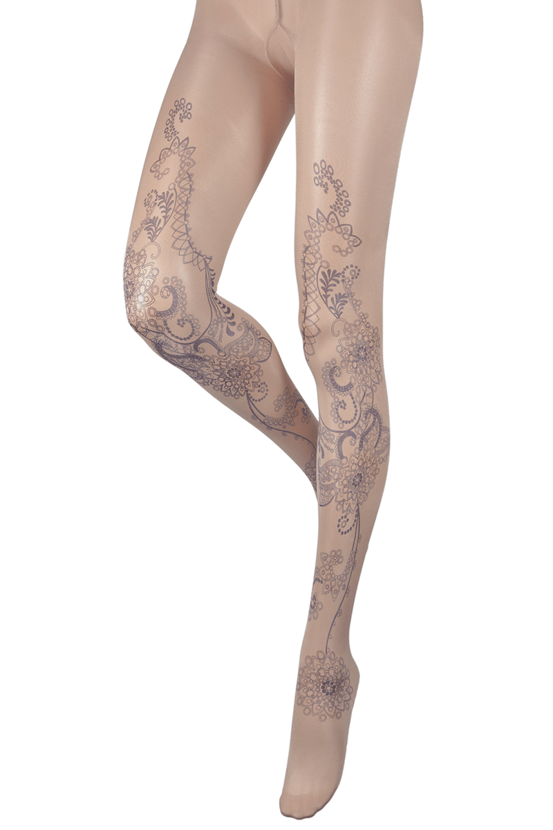 BEBAROQUE GABRIELLA Nude Blue Tights