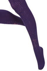 BEBAROQUE LAVENDER Purple Crystal Tights