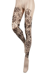 BEBAROQUE LOLITA Nude Black Tights